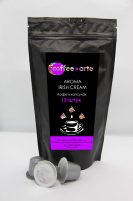 Кофе в капсулах Coffee-Arte Aroma Irish cream (15 капсул)